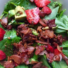 Shortly after I started eating keto, I threw together this salad out of what I had available. And then proceeded to eat it every day for a m...