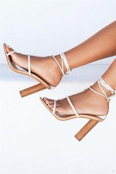 d6f524be51ce Deck Slides - Tan Leather. Karmela Heels - Cream  SaboSkirt x  WantedHeels  Nyc Fashion