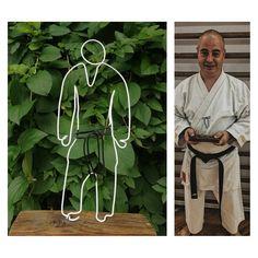 Sensei din sârmă / karate Sensei Wire Art, Karate, Photography, Photograph, Fotografie, Photoshoot, Wire Work, Fotografia