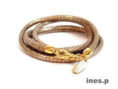 Lederarmband Reptile Glam - vintage 49 Euro Hier erhältlich: http://www.inesp.de/shop-1/mixed-1/