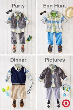 Dressing your little guy for Easter doesn't have to be complicated. Start with a great plaid shirt; add sweet, colorful pants, shoes and accessories, and you can easily make it work for a variety of occasions—from casual to dressy. He'll be Easter-ready from head to toe.