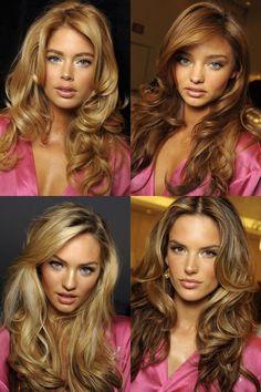Victoria's Secret Hair Inspiration - Loving Miranda and Alessandra's colors!