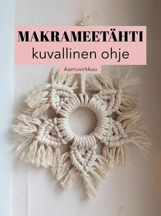 New Crafts, Xmas Crafts, Diy And Crafts, Arts And Crafts, Paper Flower Decor, Diy Crochet And Knitting, Diy Shops, Macrame Plant Hangers, Macrame Projects