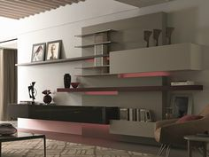 Modern wall unit designs gone beyond the obvious for Lipparini catalogo