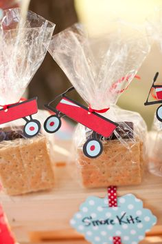 Little Red Wagon Favor Tags Set of 12 by EMTsweeetie on Etsy, $12.00