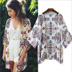 763ebec7bb 2015 autumn shirt style new tops women blouses printed shirts casual  camisas femininas blusas vintage kimono cardigan plus size