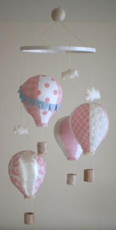 hot air balloon mobile by Rag-a-muffin