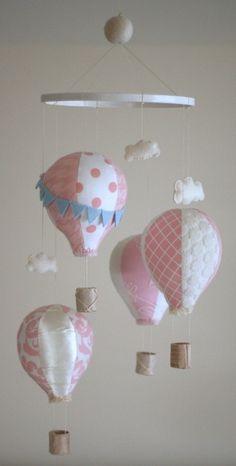 hot air balloon mobile by Rag-a-muffin