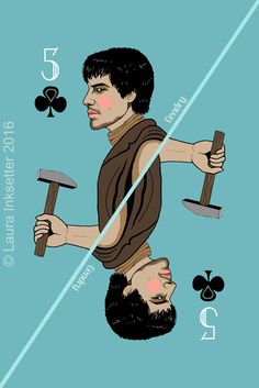 5 of Clubs - Gendry Game Of Thrones Cards, Got Game Of Thrones, Carte Got, Game Of Thones, Valar Dohaeris, Playing Card Games, Movies And Series, Cersei Lannister, Winter Is Coming