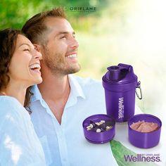 ¿Quieres llevar #Wellness a todas partes? ¡Este vaso mezclador tiene compartimientos para llevar tus tabletas, tu porción del Batido Natural Balance y el espacio para mezclarlo con lo que quieras!  #OriflameMX