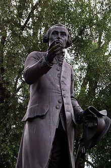 Statue of Immanuel Kant in Konigsberg