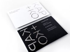 Identity Studio Kap+Ko Business Cards