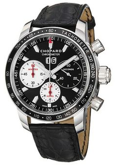 Chopard 168543-3001 LBK Watches,Men's Miglia Jacky Ickx Black Dial Black Leather, Men's Chopard Automatic Watches