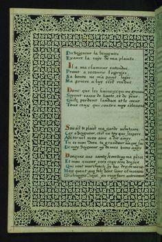 Lace Book of Marie de' Medici Lace margins Walters Manuscript W.494 Folio 10v by Walters Art Museum Illuminated Manuscripts