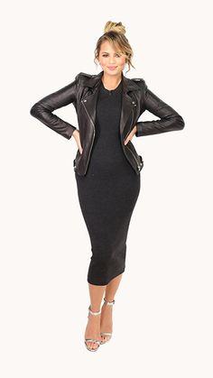 Chrissy Teigen: Look of the Day Dress: Theory, Jacket: Balenciaga