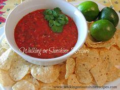 Walking on Sunshine: Pioneer Woman Salsa Recipe...