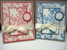 Cards created by Lianne Carper using the Elements of Style stamp set by Stampin' Up!