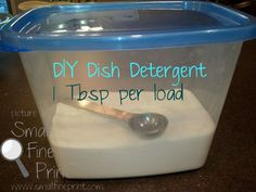 DIY Homemade Dishwasher Detergent. Almost the same ingredients as my homemade laundry detergent. Can't wait to give it a try!