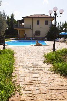 Stone Walkways, Green Carpet, Terrazzo, Decoration, Floors, Villa, Outdoors, Italy, Architecture