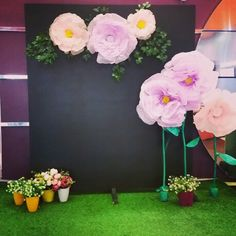 Цветочная фото зона. Цветы из тишью Харьков