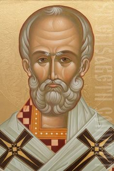 st nicholas the wonderworker icon (closeup)