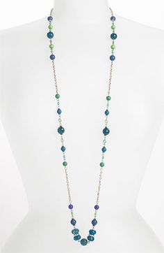 Sequin 'Holiday Hockney' Long Station Necklace