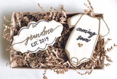 Baby Announcement Cookies - New Grandma Gift - New Aunt Gift - Grandma Est. 2019 2020 - Promoted to Grandma - Promoted to Aunt announcement Baby Announcement Cookies - New Grandma Gift - New Aunt Gift Baby Announcement To Parents, New Baby Announcements, Baby Announcement Cake, New Aunt, New Grandma, Aunt Gifts, Grandma Gifts, Pregnancy Videos, Pregnancy Quotes