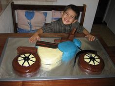 Image result for simple motor bike cake for child
