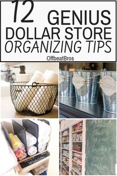 Thes 11 brilliant dollar store organizing hacks are absolutely amazing and the BEST to organize your home in budget. These dollar store organization hacks are absolutely necessary if you want to do home organization on a budget. I'm so glad I found these GREAT organization tips! Now I have great ways to keep my home organized on a dime! Definitely pinning for later! #dollarstoreorganization #dollarstoreorganizationhacks #organizationideas #organization