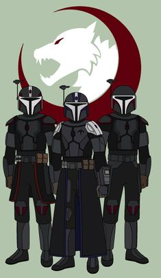 Star Wars - Clan Arche Mandalorians by on DeviantArt Star Wars Characters Pictures, Star Wars Pictures, Star Wars Images, Star Wars Clone Wars, Lego Star Wars, Star Trek, Tableau Star Wars, Reylo, Star Wars Canon