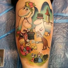 Moomin Tattoo by Riikka Leg Tattoos, I Tattoo, Cool Tattoos, Tatoos, Moomin Tattoo, Cartoon Tattoos, Beautiful Tattoos, Amazing Tattoos, Little My