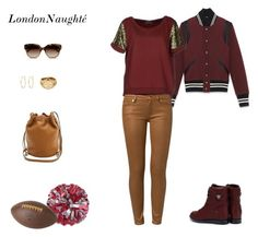 """What to wear to a football game"" by londonnaughte ❤ liked on Polyvore featuring CB2, STELLA McCARTNEY, Yves Saint Laurent, Michael Kors, Maison Scotch, 7 For All Mankind, Exull and Snö Of Sweden"