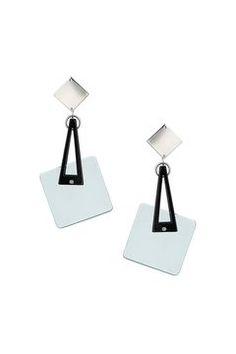 Resin Square Swing Drop Earrings