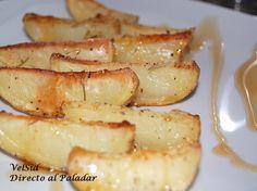 Patatas al horno con jarabe de arce