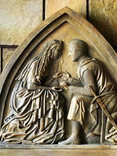 Sir Launcelot and Guinevere plaque, Medieval, Western, Civilization Arthur And Guinevere, Lancelot And Guinevere, King Arthur Legend, Legend Of King, King Arthur's Knights, Mists Of Avalon, Sculpture Museum, Roi Arthur, A Knight's Tale