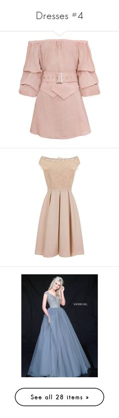 """""""Dresses #4"""" by annakennedy70 ❤ liked on Polyvore featuring dresses, vestidos, pink corset, pink off the shoulder dress, rosette dress, corset dresses, belted dresses, navy, pink lace dress and pink cocktail dress"""