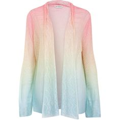 Ombre Stitch Cardi (36 AUD) ❤ liked on Polyvore featuring tops, cardigans, jackets, outerwear, sweaters, assorted, cardigan top, stitch top, waterfall cardigan and miss selfridge