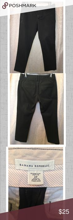 """Banana Republic Cropped Pant Nice cropped pant has a satin wash so color is not very bold like most """"work pants"""" but looks very cute dressed down. Banana Republic Pants Ankle & Cropped"""