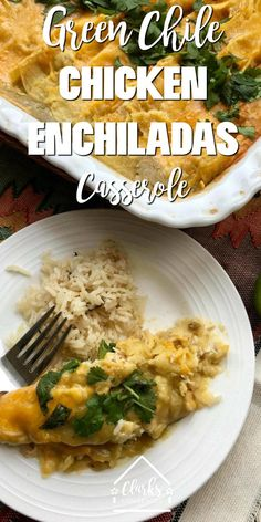 The best and most easy green chile chicken enchiladas casserole recipe around. So delicious! via Easy and delicious green chile chicken enchiladas casserole. This is a fast and easy recipe that everyone loves! Green Chili Enchiladas, Green Chicken Enchiladas, Green Chili Chicken, Chicken Enchilada Casserole, Enchilada Recipes, Chile, Cooking Dishes, Easy Dinner Recipes, Dinner Ideas