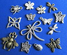 Tibetan Silver & Bronze Bugs & Insects Pendants and Charm Beads Jewellery Crafts  | eBay