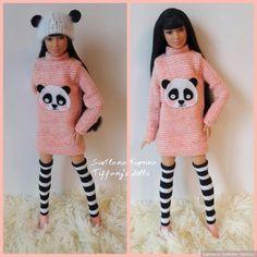 """Комплект на барби и им подобных """" Девочка -панда 1"""" / Одежда для кукол / Шопик. Продать купить куклу / Бэйбики. Куклы фото. Одежда для кукол"""
