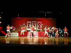 High School Musical On Stage - Wildcat Cheer - YouTube