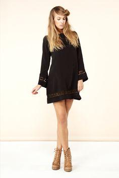 BELLSLEEVE Dress in Black - @ Edith Hart