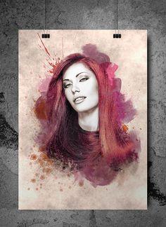 The Women Grunge Art Print by SeventyEightDesign on Etsy