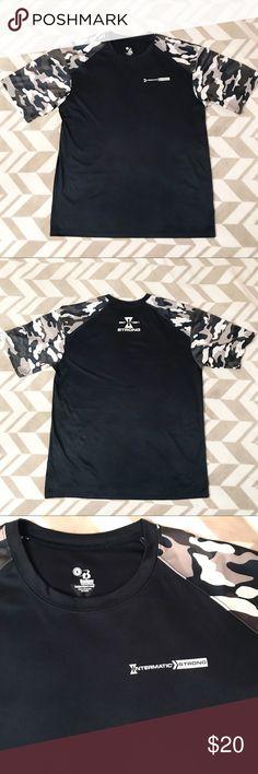 a39b9e4f Badger Sport Camo Athletic Shirt Guys Badger Sport brand athletic shirt  Features trendy camo and cool