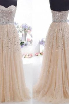 2016 Cheap Sweetheart Heavy Beaded Bling Bling Tulle Long Champagne Prom Dresses Ball Gowns, Formal Evening Dresses Gowns, Homecoming Graduation Cocktail Party Dresses Custom Plus size