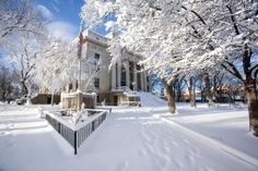 Courthouse Square all covered in snow!