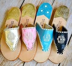 Palm Beach sandals- Inspired by the iconic Jackie O #bringingclassicback #PersonallyPreppy #monogram