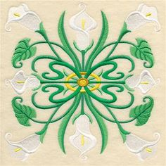 Machine Embroidery Designs at Embroidery Library! - Calla Lilies