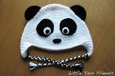 Free Crochet Pattern: Panda Beanie